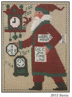 Prairie Schooler 2013 Santa Christmas cross stitch pattern