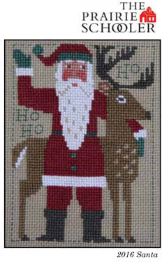 Prairie Schooler 2016 Santa Christmas cross stitch pattern