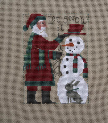 Prairie Schooler 2018 Santa Christmas cross stitch pattern