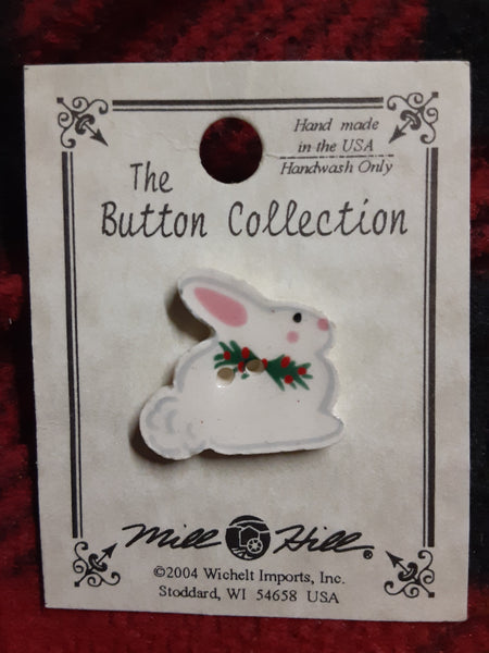 Mill hill Snowbunny button 86092