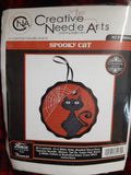 Creative Needle Arts Spooky Cat tin tart halloween cross stitch kit