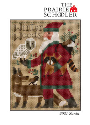 Prairie Schooler 2021 Santa Christmas cross stitch pattern