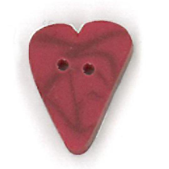 Just Another Button Company Red Velvet Heart 3340 buttons