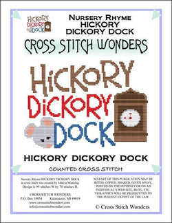 Cross Stitch Wonders Marcia Manning A Nursery Rhyme - HICKORY DICKORY DOCK Cross stitch pattern