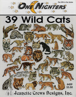39 Wild Cats pattern - Sandra's Stitch Stash