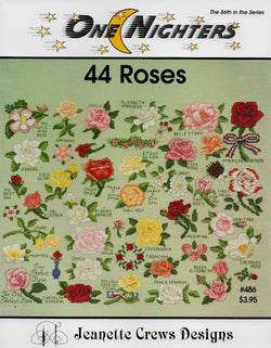Jeanette Crews 44 Roses cross stitch pattern