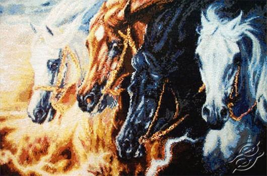 Kustom Krafts 4 Horses of Apocolypse cross stitch pattern