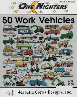 Jeanette Crews 50 Work Vehicles cross stitch pattern