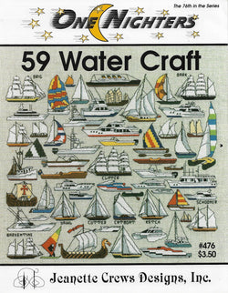 Jeanette Crews 59 Water Craft boat cross stitch pattern