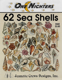 Jeanette Crews 62 Sea Shells cross stitch pattern