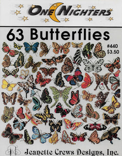Jeanette Crews 63 Butterflies cross stitch pattern