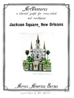 Art Ventures Jackson Square New Orleans cross stitch pattern
