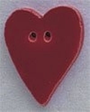 Mill Hill Large Red Folk Heart 86202 ceramic button