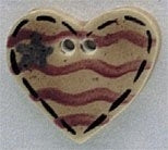 Nill Hill Old Heart Flag 86228 patriotic button