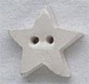 Mill Hill Very Small White Star 86242 ceramic button