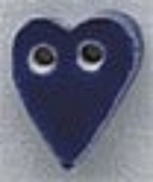 Mill Hill  Small Blue Folk Heart 86252 ceramic button