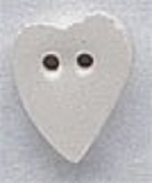 Mill Hill Medium White Folk Heart 86258 ceramic button