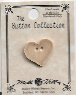 Mill Hill Small Speckled Brown Heart 86266 button