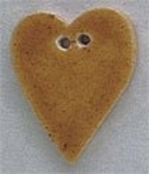 Mill Hill Large Speckled Gold Folk Heart 86286 button