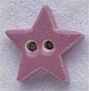 Mill Hill Very Small Dusty Rose Star 86287 ceramic button