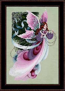 Lavender and Lace Fairy dreams victorian cross stitch pattern