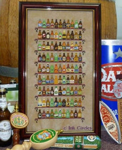 Ink Circles 99 Bottles of Beer cross stitch pattern