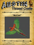 Austin Thread Crafts McCaw Parrot bird cross stitch pattern