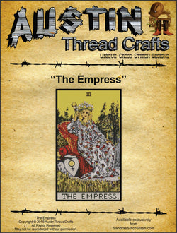 Austin Thread Crafts The Empress Tarot cross stitch pattern
