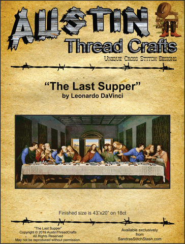 AustinThreadCrafts The Last Supper by Leonardo DaVinci religious cross stitch pattern
