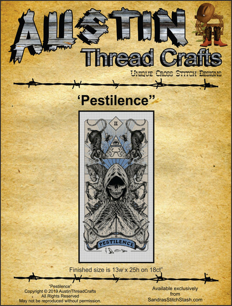 AustinThreadCrafts Pestilence 4 Apocolypses cross stitch pattern