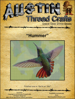 AustinThreadCrafts Hummer Hummingbird cross stitch pattern