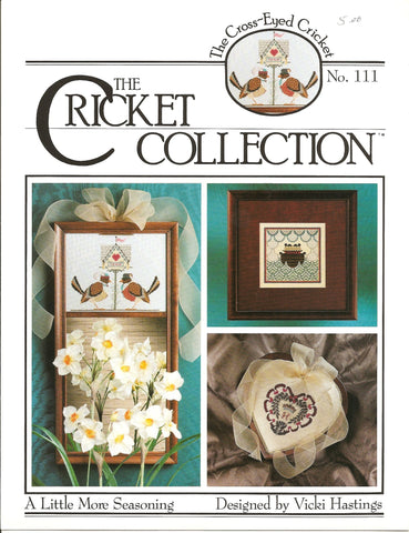 Cricket Collection A little more seasoning CC111 cross stitch leaflet