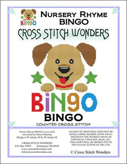 Cross Stitch Wonders Marcia Manning A Nursery Rhyme - BINGO Cross stitch pattern