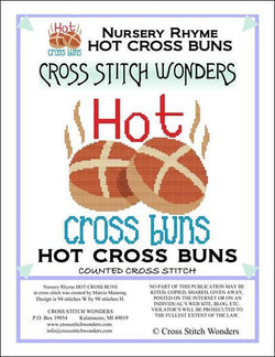 Cross Stitch Wonders Marcia Manning A Nursery Rhyme - HOT CROSS BUNS Cross stitch pattern
