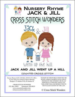 Cross Stitch Wonders Carolyn Manning A Nursery Rhyme - JACK and JILL WENT UP THE HILL Cross stitch pattern