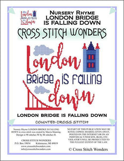 Cross Stitch Wonders Marcia Manning A Nursery Rhyme - LONDON BRIDGE IS FALLING DOWN Cross stitch pattern