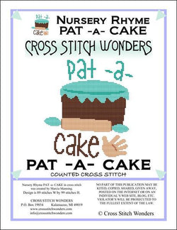Cross Stitch Wonders Marcia Manning A Nursery Rhyme - PAT A CAKE Cross stitch pattern