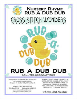 Cross Stitch Wonders Marcia Manning A Nursery Rhyme - RUB A DUB DUB Cross stitch pattern