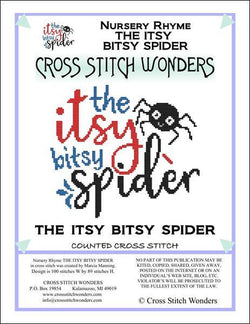 Cross Stitch Wonders Marcia Manning A Nursery Rhyme - THE ITSY BITSY SPIDER Cross stitch pattern