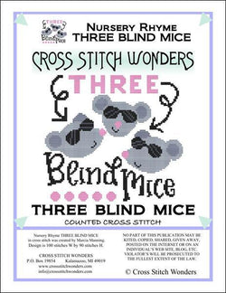 Cross Stitch Wonders Marcia Manning A Nursery Rhyme - THREE BLIND MICE Cross stitch pattern