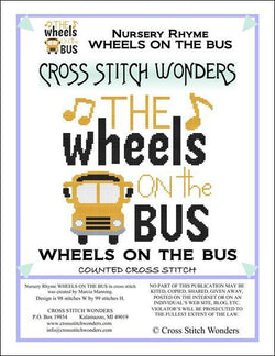 Cross Stitch Wonders Marcia Manning A Nursery Rhyme - WHEELS ON THE BUS Cross stitch pattern