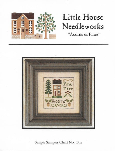 Little House Needleworks Acorns & Pines cross stitch pattern