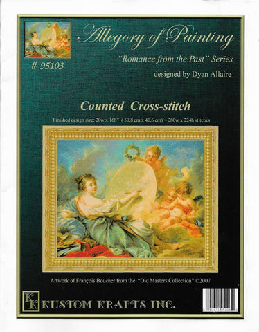 Kustom Krafts Allegory of Painting 95103 cross stitch pattern