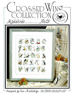 Crossed Wing Collection Alphabirds No. 25 bird cross stitch pattern