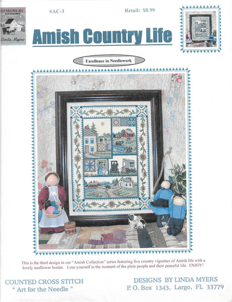 Linda Myers Amish Country Life AC-3 amish cross stitch pattern