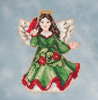 Mill Hill Angel with Cardinal kit Jim Shore JS-20-1615 beaded cross stitch kit