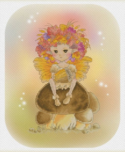 Lena Lawson Autumn Fae Sprite cross stitch pattern