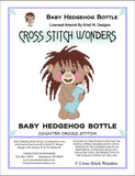 Cross Stitch Wonders Carolyn Manning Baby Hedgehog Bottle Cross stitch pattern