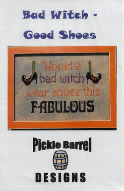 Pickle Barrel Bad Witch - Good Shoes cross stitch pattern