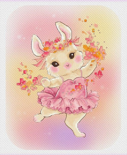 lena Lawson Ballerina Bunny cross stitch pattern